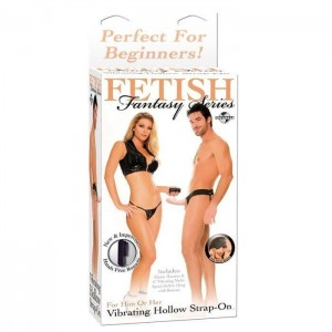 VIBRATORE INDOSSABILE FF VIBRATING HOLLOW STRAP ON - FLESH