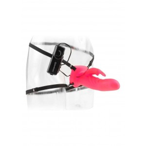 VIBRATORE STRAP-ON WONDERFUL WABBIT STRAP ON PINK