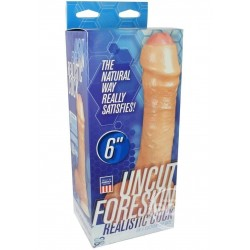DILDO DOC JOHNSON THE REALISTIC UNCUT FORESKIN 6-INCH WHITE